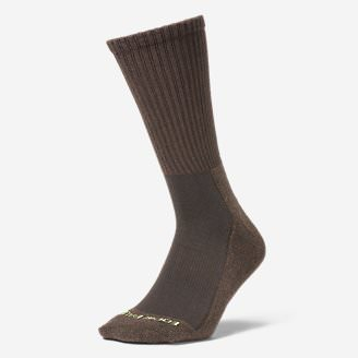 Men's Trail COOLMAX Crew Socks in Brown