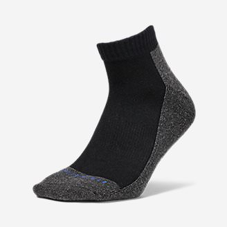 Men's Trail COOLMAX Quarter Socks in Black