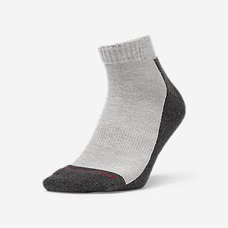 Men's Trail COOLMAX Quarter Socks in Gray