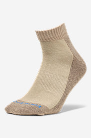 Men's Trail COOLMAX Quarter Socks in Beige