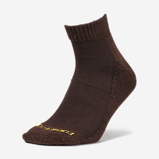 Men's Trail COOLMAX Quarter Socks in Brown