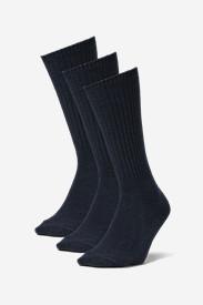 Men's Solid Crew Socks - 3 Pack in Blue