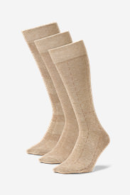 Men's Pattern Crew Socks - 3 Pack in Beige