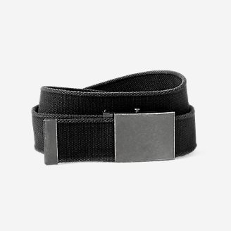 Men's Web Plaque Belt in Black