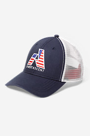 Graphic Cap - First Ascent Flag in Blue