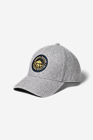 Wool-Blend Graphic Cap in Gray