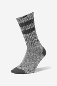 Men's Crew Socks - Marled Stripe in Gray