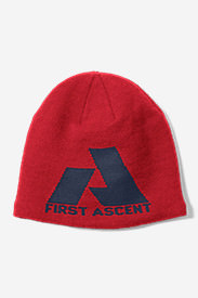 Telemetry First Ascent Beanie in Red