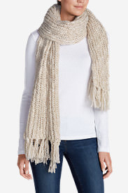 Women's Larkspur Sweater Scarf in White