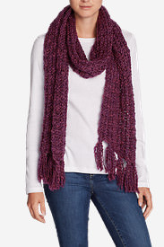 Women's Larkspur Sweater Scarf in Red