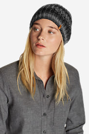 Women's Larkspur Space Dye Beanie in Black