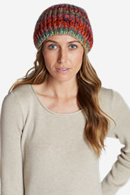 Women's Larkspur Space Dye Beanie in Red