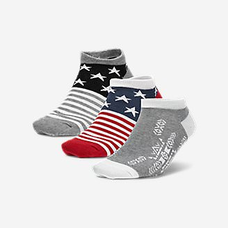 Women's Low-Profile Patterned Socks - 3-Pack in Red