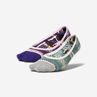 Women's Super No-Show Liner Socks - 2-Pack in Purple
