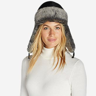 Women's Yukon Down Trapper Hat in Gray