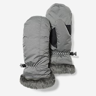Women's Sun Valley Down Mittens in Gray