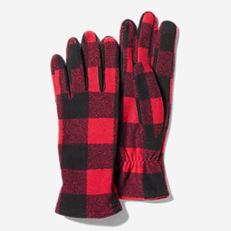 Women's Quest Fleece Gloves in Red