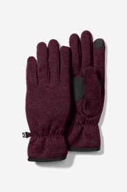 Women's Radiator Fleece Gloves in Red