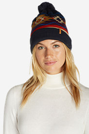 Women's Slope Side Beanie in Blue