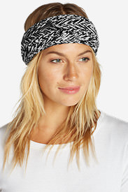 Women's Powah Knit Headband in Black
