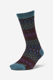 Women's Crew Socks in Blue