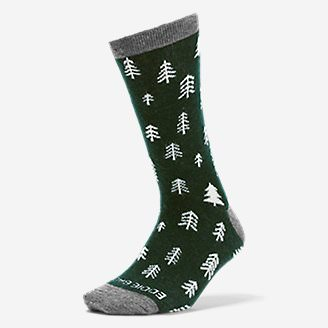 Women's Crew Socks in Green