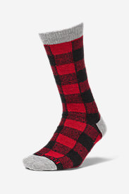 Women's Crew Socks in Red