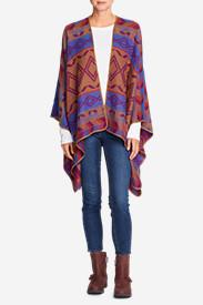 Women's Vesper Blanket Shawl in Blue