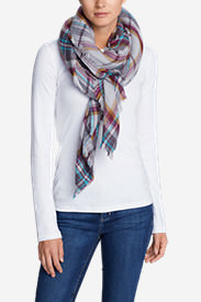 Women's Blakely Plaid Blanket Scarf in Gray