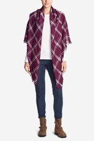 Women's Blakely Plaid Blanket Scarf in Purple