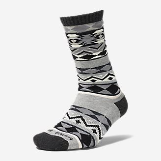 Women's Trail COOLMAX Crew Socks - Pattern in Gray