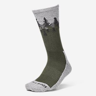 Women's Trail COOLMAX Crew Socks - Pattern in Green