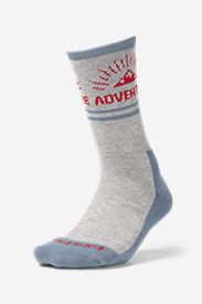 Women's Trail COOLMAX® Crew Socks - Pattern in Blue