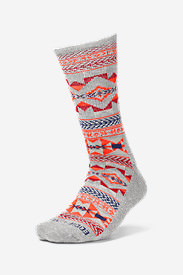Women's Trail COOLMAX Crew Socks - Pattern in Red