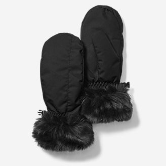 Women's Superior Down Mittens in Black