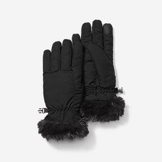 Women's Sun Valley Down Gloves in Black