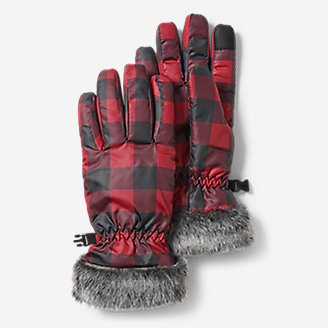Women's Sun Valley Down Gloves in Red