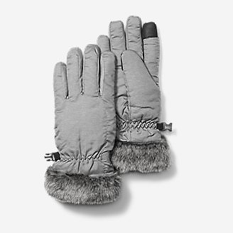 Women's Sun Valley Down Gloves in Gray