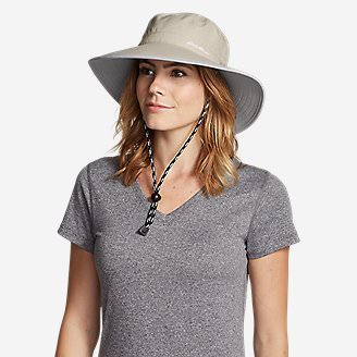 Women's Exploration UPF Wide Brim Hat in Beige