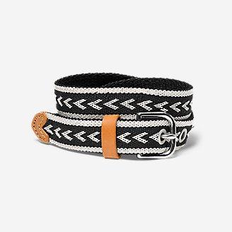 Women's Voyager Woven Belt in Black