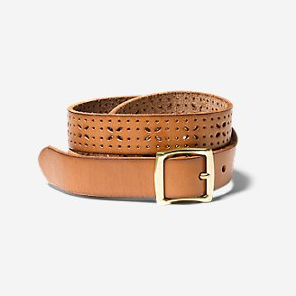 Women's Elysian Leather Belt in Brown