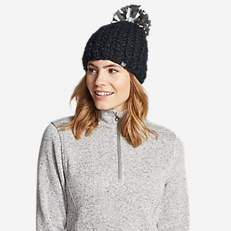 Women's Notion Pom Beanie in Black