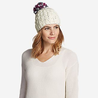 Women's Notion Pom Beanie in White