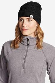 Women's First Ascent Merino-Blend Beanie in Black