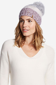 Women's Lodgeside Pom Beanie in Gray