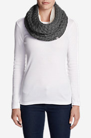 Women's Bellingham Fleece Cowl Scarf in Gray