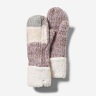 Women's Lodgeside Mittens in Gray