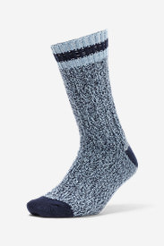 Women's Merino Wool Ragg Crew Socks in Blue