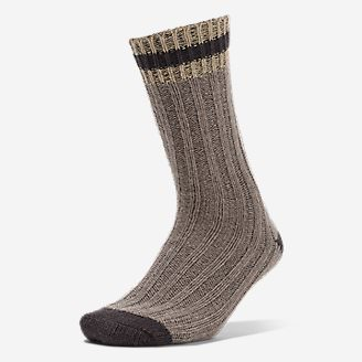 Women's Merino Wool Ragg Crew Socks in Beige
