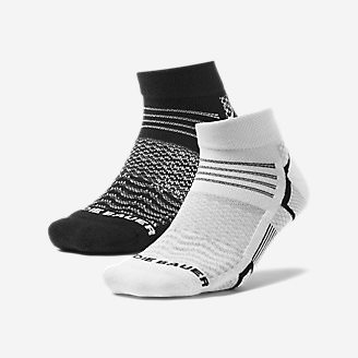 Women's Active Pro CoolMax Low Profile Socks - 2 Pack in Black